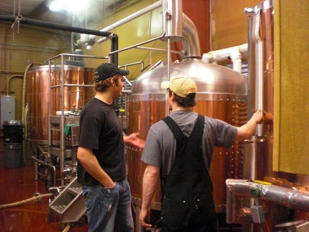 Kevin & Ian brewing Kevin's Czech Pils at LoneRider Brewery